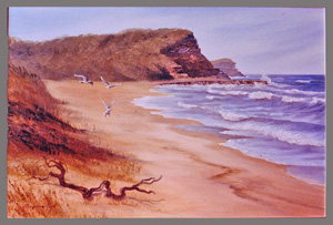 North Avoca - oil commission 1980s 24x36 inches