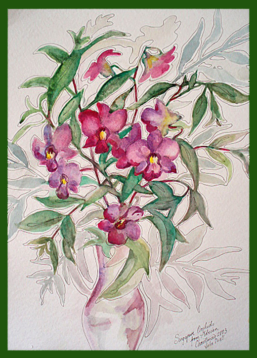 how to paint pictures of orchids