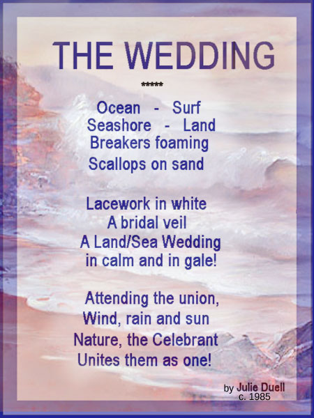 LAND-SEA WEDDING