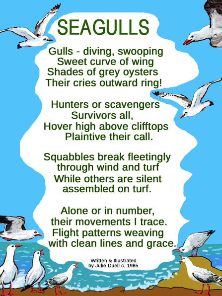 SEAGULLS ILLUSTRATED POEM
